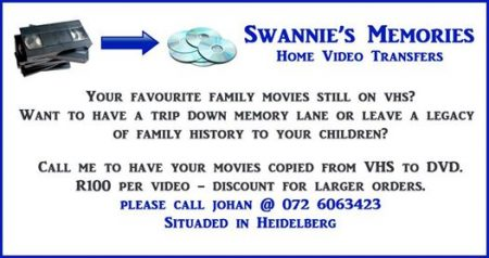 Swannie's Memories Home Video Transfers